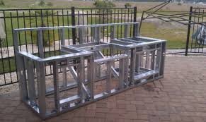 ideas exquisite how to build an outdoor kitchen with metal studs my pas outdoor kitchen build
