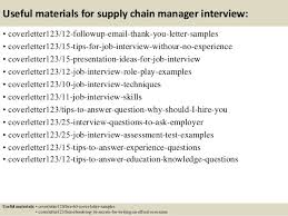 14 useful materials for supply chain manager supply chain manager cover letter