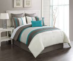 piece king aruba turquoisetaupe bed in a bag set  bedroom
