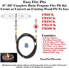 propane fire ring. Fr24ck DIY Basic Propane Fire Pit Kit \u0026 24\ Ring N
