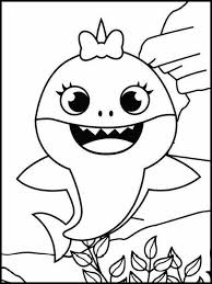 For kids & adults you can print baby shark or color online. Baby Shark Free Printable Coloring Book 23