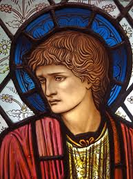 morris co eye candy eyes close up and glasses close up of stained glass head of st paul designed by edward burne jones