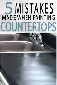 kitchen counter tops are easy to paint but require knowledge to get a professional finish