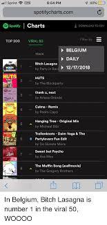 Spotify Daily Charts Il Sprint Vpn 654 Pm 40 Spotifychartscom Spotify Charts