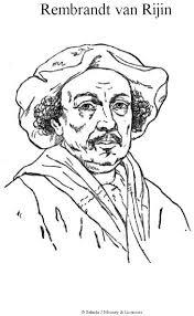 Cc2 Wk 6 Grat Artists Coloring Page Rembrandt Van Rijn C2 History