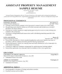 Resume Property Manager Assistant Cover Letter Best Inspiration