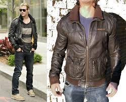 superdry biker jackets worn by chris hemsworth brad lite er leather jacket mens brown superdry