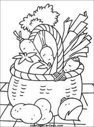 Kleurplaat Groenten Thema Groenten En Vruchtengezond Eten