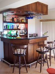 home mini bar furniture. Mini Bar For Home With Hanging Wine Glass Rack And Open Shelving : Home. Home,mini Design,mini Interior,mini Furniture