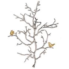 a b home gold and silver branch wall décor