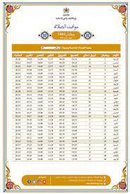 مواقيت الصلاة في رمضان 2021 بالمغرب