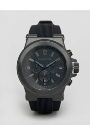 buy michael kors watches for men online fashiola co uk compare men watches michael kors mk8152 oversized dylan silicone chronograph watch