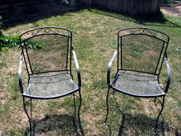 metal chair suburban experiment pertaining to spray painting metal furniture pertaining to home