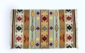 grey red wool rug 3x5 kilim hand knotted carpet aztec wov