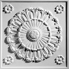 medallion white ceiling tiles