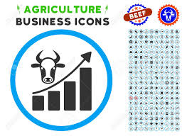 Cattle Chart Cattle Chart Grow Up Rounded Icon With Agriculture Commercial