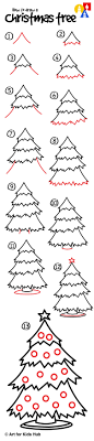 Enanders Christmas Lights How To Draw A Christmas Tree Art For Kids Hub Directed