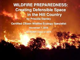 2019 Wildfire Preparedness: Creating Defensible Space in the Hill Cou…