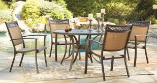 ashley furniture p376 615 601a 5 pc carmadella 48 round dark brown metal patio table and chairs