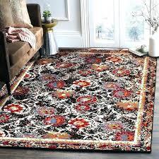 black and orange area rugs red orange rug luminous fl black red orange area rug red