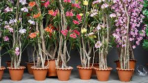 how to secure artificial plants in pots