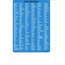 High Frequency Word Chart High Frequency Word Pupil Chart Next 200 Words School Literacy Aid