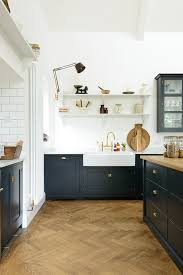 the real shaker kitchen by devol with simple kitchen backsplash