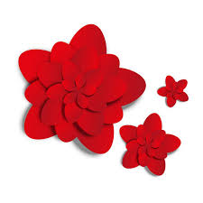 Red Paper Flower Red Paper Flower Vector Free Download