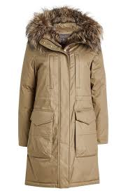 Essex Military Down Parka With Fur Trimmed Hood