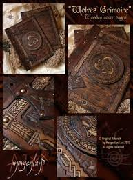 morgenland art unique handmade creations get inspired from the old ages wolves grimoire wooden cover pages