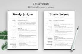 Professional Resume Template Brooke Bonus