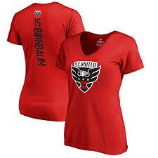 amp; Women's Branded Birnbaum Red Steven United Fanatics Number Name c T-shirt V-neck Backer D