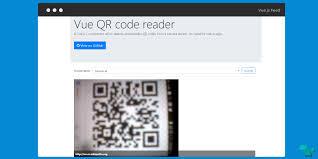 qr detect detect and decode qr codes using a vue js component vue js feed