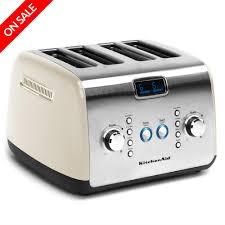kitchenaid toaster blue. new kitchenaid artisan kmt423 4 slice almond cream toaster kitchenaid blue