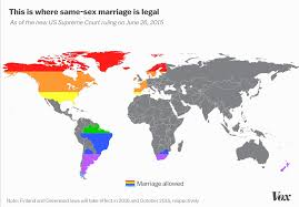 this map shows every country with full marriage equality — now