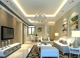 cove lighting design. Lamp Design For Living Room Large False Raised Ceiling Decor Tray Ideas Drum Shape Table Shade Hidden Cove Lighting Setup Beige Interior I