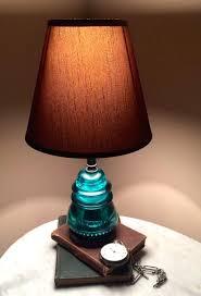 insulator lamps insulator lamp blue glass insulator lamp rustic primitive