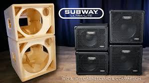 1x15 Guitar Cabinet Mesar Subwayr Ultra Lite 1x12 1x15 Official Cab Demo Comparison