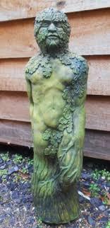 tuin en terras green man statue stone