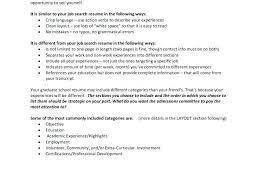 Grad School Resume Examples Sample Grad School Resumes Resume