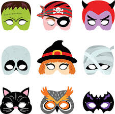 halloween costume clip art. Fine Clip Halloween Printable Masks Vector Art Illustration In Costume Clip Art T