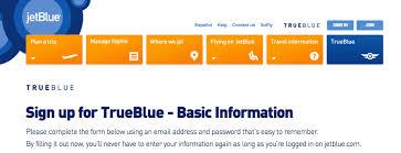 jetblue frequent flyer enrollment code how long does it take register a kid for jetblue trueblue michael