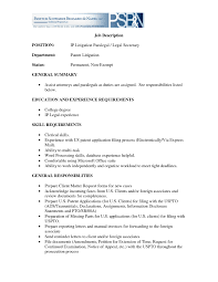 Resume Templates Legal Assistant Secretary Objective For