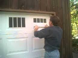 FauxFake Carriage Garage Door Window Illusion Installation YouTube