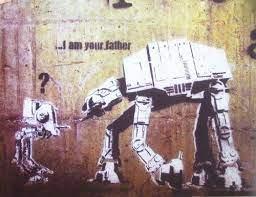 Vysoce kvalitní materiály obraz i am your father by banksy je vytištěn na speciálním vliesovém plátně, které dokonale odráží barvy. I Am Your Father Banksy Canvas Street Art Print Artwork