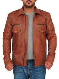 Light Brown Leather Jacket Mens Vintage Brown Men Leather Jacket