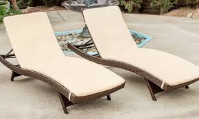 ... Stunning Most Comfortable Chaise Lounge Outdoor Outdoor Lounge Chairs  Set Of 2 Groupon Goods ...