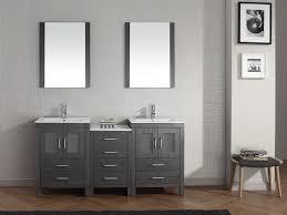 The Grey Bathroom Vanity Bianca 60u2033 Grey Double Bathroom Vanity