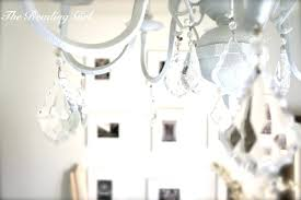 shabby chic chandelier white antique