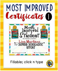Certificates Most Improved Awards 1
